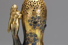 Gres-Bijou Vase with Maiden, Model #8167