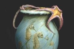 Starfish and Sea horse Vase
